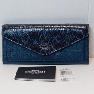 COACH Reserve Genuine Snake Skin/Pebbled Leather